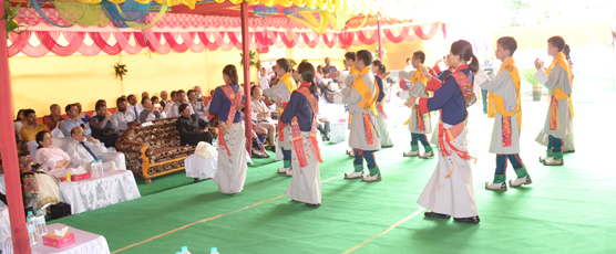 Phuentsholing school students performing on  the Independence Day 2017