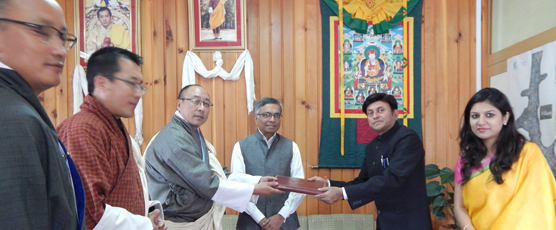 Signing of the Use Right Agreement between National Land Commission of Royal Government of Bhutan and Consulate General of India, Phuentsholing.