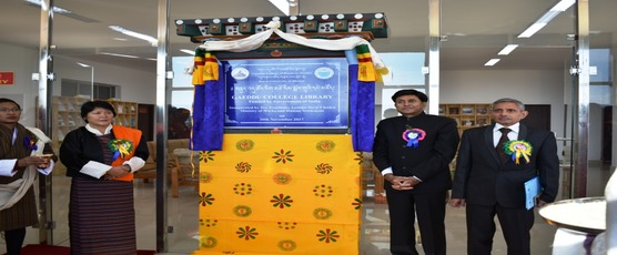 Inauguration Ceremony of Two buildings for Gedu College Bhutan. Funded by Government of India on 26th November 2017.