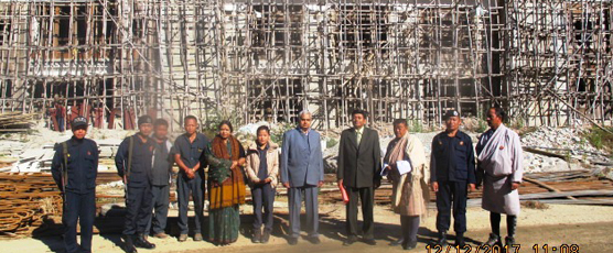 Consul General Shri Pieyush Gupta reviewed the progress of Pemagatshel Dzong Construction Project PTA Project at Denchii on 12-12-2017.