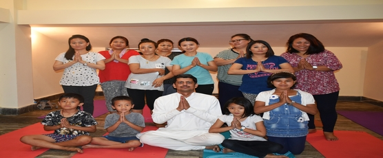 Yoga courses organized by Consulate General of India, Phuentsholing at Samdrup Jongkhar on 14-15 April, 2018.