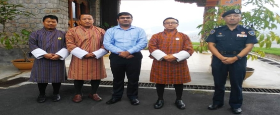 Consul General met Dasho Dzongdag and other senior officials of Tsirang Dzongkhag on 27th September 2018. (In pic Consul General, Dasho Dzongdag, Dasho Dzongrab and Dasho Superintendent of Police)