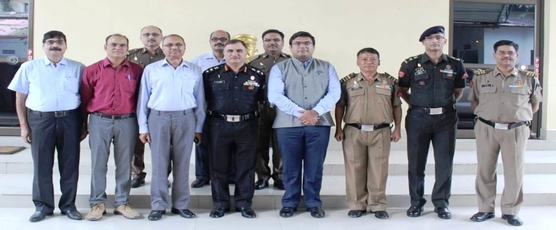 Consul General Shri Ashish Middha and Consul Shri Rahul Yadav met Commander Col. Nissar Ahmad Chaudhary and rank and file of 19 BRTF on October 9, 2018 at Phuentsholing.