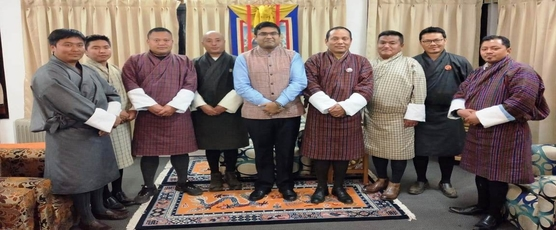 Consul General visited Chukha Dzongkhag on February 7, 2019 and met Dasho Dzongdag, Dasho Dzongrab, Dasho OC, Chief Engineer Chukha Hydel Project and other senior officials of the Dzongkhag.