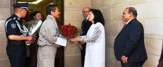 Lyonchhen (Dr.) Lotay Tshering, Prime Minister of Bhutan was warmly received by Foreign Secretary Shri Vijay Gokhale on his arrival in Delhi on 30th May 2019, for attending the oath-taking ceremony of Prime Minister Shri .....