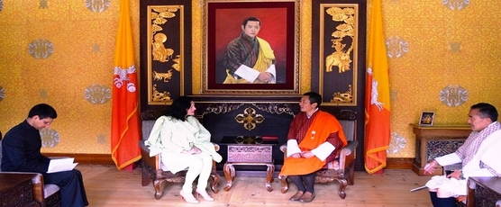 Ambassador of India to Bhutan Smt. Ruchira Kamboj called on the Prime Minister of Bhutan, H.E. Lyonchhen (Dr.) Lotay Tshering