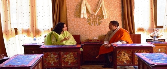 Ambassador of India to Bhutan Smt. Ruchira Kamboj called on the Foreign Minister of Bhutan, H.E. Lyonpo (Dr.) Tandi Dorji