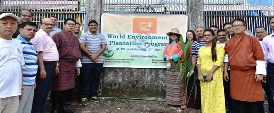 CGI Phuentsholing celebrated 150th Birth Anniversary of Mahatma Gandhi by planting saplings at the Indo-Bhutan border  on the occasion of World Environment Day. Mayor, senior Bhutanese officials, Dantak,  IMTRAT, BIFA and .....
