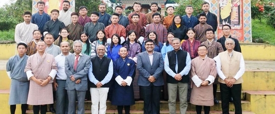Consul General Shri Ashish Middha attended the closing ceremony and business pitching events of the 3-day workshop titled Innovation for Disaster Management organised at College of Science and Technology, Phuentsholing .....