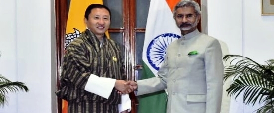 External Affairs Minister meets Lyonpo Dr. Tandi Dorji, Foreign Minister of Bhutan in New Delhi