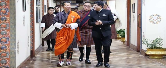 Railways and Commerce & Industry Minister Piyush Goyal calls on Prime Minister of Bhutan Dr. Lotay Tshering