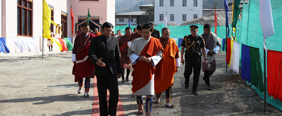 His Royal Highness Jigyel Ugyen Wangchuck President of BOC and Son of K4, and the Consul General Shri Pieyush Gupta on 21st Jan 17 in Phuentsholing