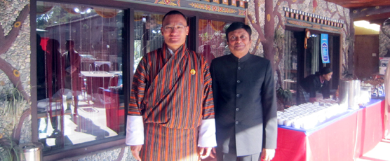 Hon. Consul General of India with Hon. Tshering Tobgay, Prime Minister of Bhutan during Handing Over Ceremony of Gewog Utility Vehicle on 15.01.2017