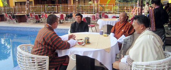 Consul General having tea with Hon. Tshering Tobgay Prime Minister of Bhutan at Phuentsholing on 15th Jan17