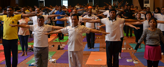 Mass Common Yoga Protocol Practice - Loosening Exercises (Calana Kriyas) - Shoulder Movements.